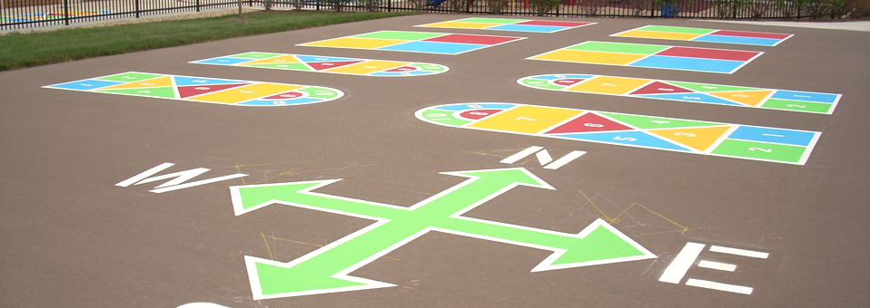 Game Courts And Logos Ottos Parking Marking