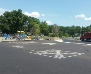 Game Courts at New Elementary School in Northwest Indiana